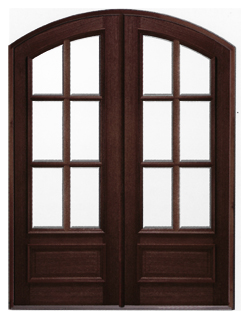 Solid Mahogany Archtop Entry Doors Round Top Front Doors
