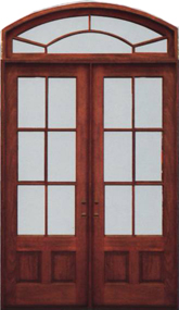 6/8 Double Door w/ Transom