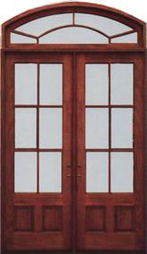 8/0 Double Door w/ Transom