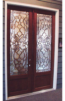 Huntington 8′ Double Door with Gluechip for Privacy