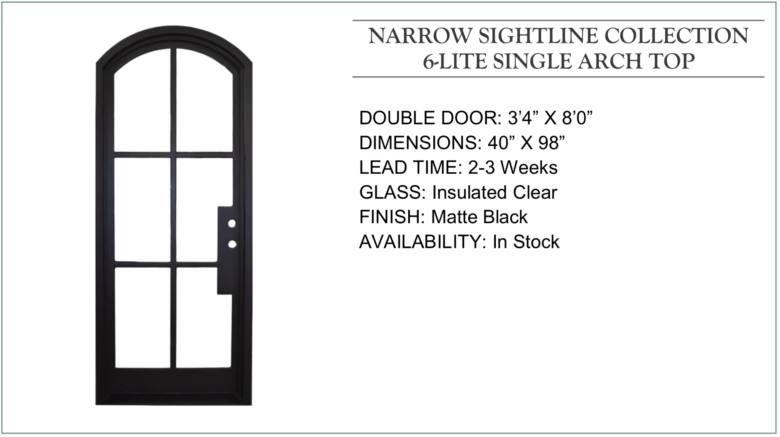 Jsd Website Narrow Sightline 6 Lite Single Arch Top